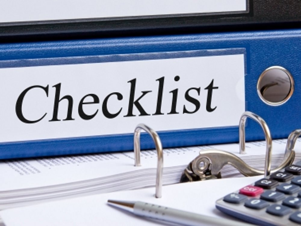 Bookkeeping Checklists